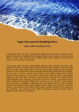 Sea Sand Word Template, Cover Page, 05870, Nature & Environment — PoweredTemplate.com
