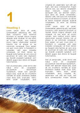 Sea Sand Word Template, First Inner Page, 05870, Nature & Environment — PoweredTemplate.com