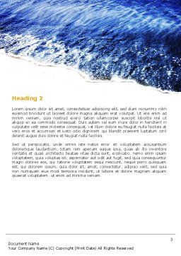 Sea Sand Word Template, Second Inner Page, 05870, Nature & Environment — PoweredTemplate.com