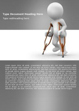 Cripple Person Word Template, Cover Page, 05876, Medical — PoweredTemplate.com