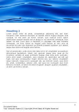 Sea Waves Word Template, Second Inner Page, 05881, Nature & Environment — PoweredTemplate.com