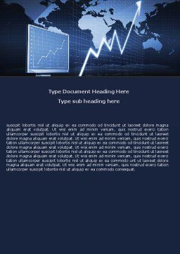 Stock Market Jumping Rate Word Template, Cover Page, 05883, Consulting — PoweredTemplate.com