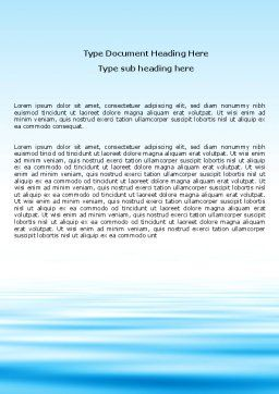 Blue Surface Word Template, Cover Page, 05885, Nature & Environment — PoweredTemplate.com