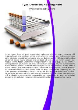 Medical Testing Equipment Word Template, Cover Page, 05886, Medical — PoweredTemplate.com