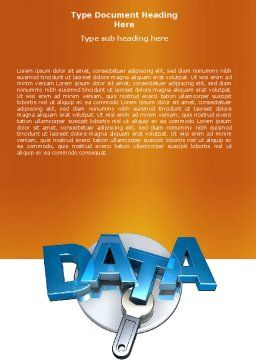 Data Safety Word Template, Cover Page, 05887, Technology, Science & Computers — PoweredTemplate.com