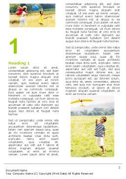 Outdoor Play Word Template, First Inner Page, 05889, People — PoweredTemplate.com