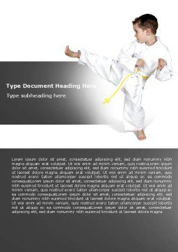 Karate Kid Word Template, Cover Page, 05892, Sports — PoweredTemplate.com