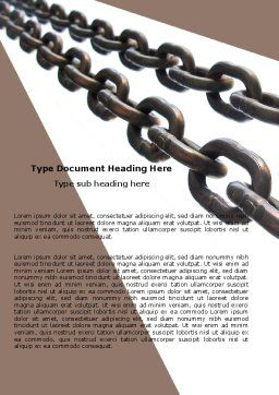 Steel Chains Word Template, Cover Page, 05896, Business Concepts — PoweredTemplate.com