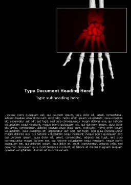 Skeleton Hand Word Template, Cover Page, 05899, Medical — PoweredTemplate.com