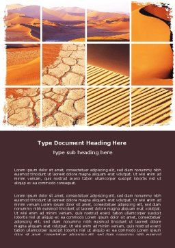 Desert Word Template, Cover Page, 05901, Nature & Environment — PoweredTemplate.com