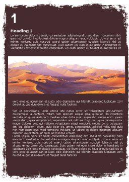 Desert Word Template, First Inner Page, 05901, Nature & Environment — PoweredTemplate.com