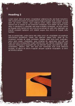 Desert Word Template, Second Inner Page, 05901, Nature & Environment — PoweredTemplate.com