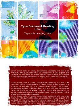 Meteorology Collage Word Template Cover Page