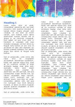 Meteorology Collage Word Template First Inner Page