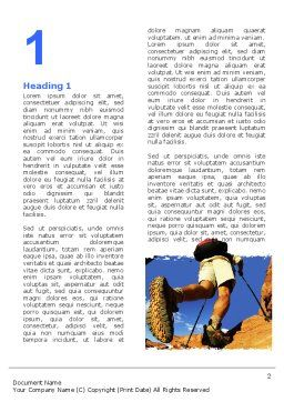 Mountain Hiking Word Template, First Inner Page, 05905, Sports — PoweredTemplate.com