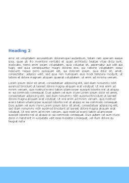 Mountain Hiking Word Template, Second Inner Page, 05905, Sports — PoweredTemplate.com