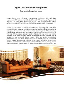 Living Room Word Template, Cover Page, 05906, Careers/Industry — PoweredTemplate.com