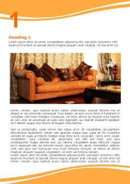 Living Room Word Template, First Inner Page, 05906, Careers/Industry — PoweredTemplate.com