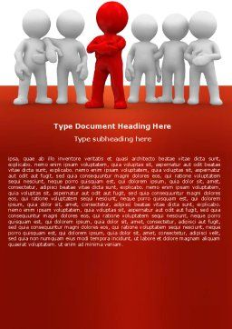 Team Leader Word Template, Cover Page, 05914, Business Concepts — PoweredTemplate.com