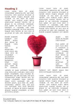 Fuchsia Heart Word Template, First Inner Page, 05917, Careers/Industry — PoweredTemplate.com