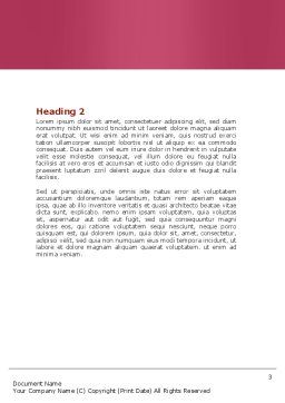 Fuchsia Heart Word Template, Second Inner Page, 05917, Careers/Industry — PoweredTemplate.com