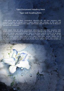 White Lily Word Template Cover Page