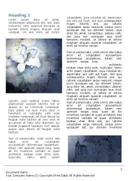 White Lily Word Template First Inner Page