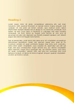 Handshaking Word Template, Second Inner Page, 05920, Business Concepts — PoweredTemplate.com