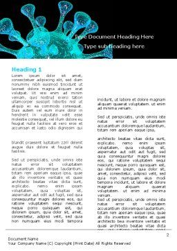Microbe Word Template, First Inner Page, 05923, Medical — PoweredTemplate.com