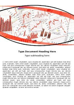 Stock Market Histograms Word Template Cover Page