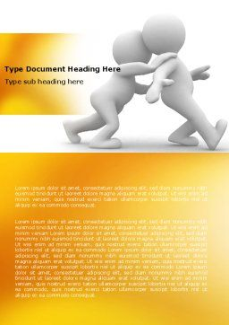 Persuasion Word Template, Cover Page, 05930, Consulting — PoweredTemplate.com