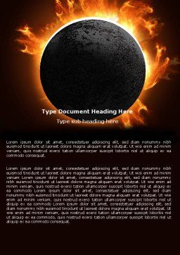 Solar Eclipse Word Template, Cover Page, 05932, Nature & Environment — PoweredTemplate.com