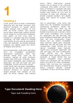Solar Eclipse Word Template, First Inner Page, 05932, Nature & Environment — PoweredTemplate.com