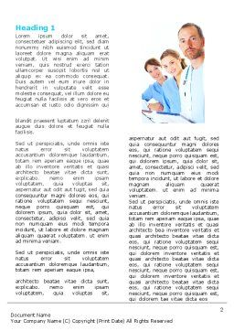 Medical Team On Duty Word Template, First Inner Page, 05935, People — PoweredTemplate.com