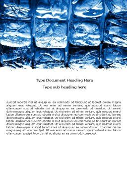 Cubes of Ice Word Template, Cover Page, 05937, Careers/Industry — PoweredTemplate.com