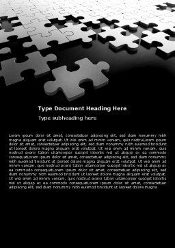 Silver Puzzle Word Template, Cover Page, 05940, Consulting — PoweredTemplate.com