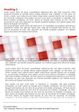 Red And White Word Template, First Inner Page, 05945, Technology, Science & Computers — PoweredTemplate.com
