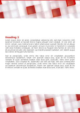 Red And White Word Template, Second Inner Page, 05945, Technology, Science & Computers — PoweredTemplate.com