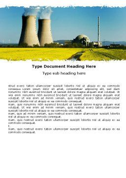Atomic Power Plant Word Template, Cover Page, 05946, Utilities/Industrial — PoweredTemplate.com