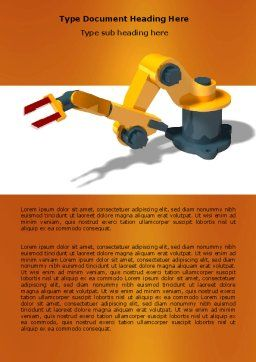 Production Line Robots Word Template, Cover Page, 05947, Technology, Science & Computers — PoweredTemplate.com