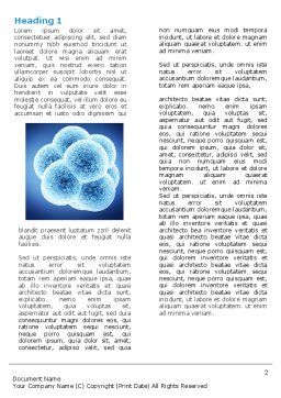 Cell Division Word Template, First Inner Page, 05948, Medical — PoweredTemplate.com