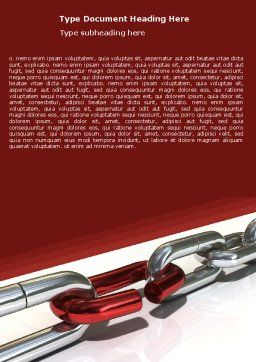 Weak Link Word Template, Cover Page, 05949, Consulting — PoweredTemplate.com