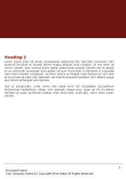 Weak Link Word Template, Second Inner Page, 05949, Consulting — PoweredTemplate.com