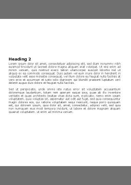 Tools In Gray Color Word Template, Second Inner Page, 05954, Utilities/Industrial — PoweredTemplate.com