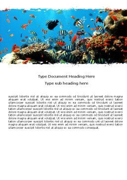 Coral Ledge Word Template, Cover Page, 05955, Nature & Environment — PoweredTemplate.com