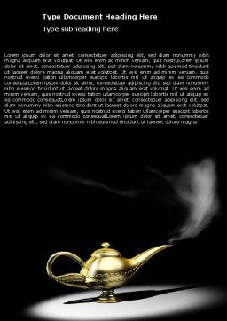 Aladdin's Magic Lamp Word Template Cover Page