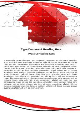 Cottage Puzzle Word Template, Cover Page, 05958, Financial/Accounting — PoweredTemplate.com