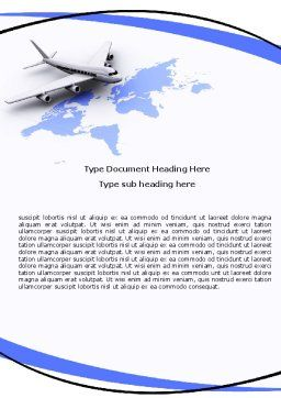 Wide World Air Transportation Word Template, Cover Page, 05960, Cars/Transportation — PoweredTemplate.com