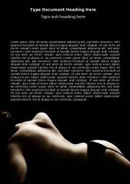 Naked Beauty Word Template, Cover Page, 05962, People — PoweredTemplate.com