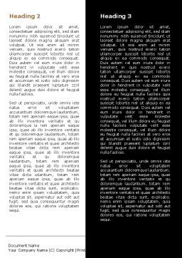 Naked Beauty Word Template, Second Inner Page, 05962, People — PoweredTemplate.com
